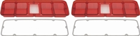 71 Road Runner / GTX Tail Lamp Lenses without Black Trim