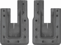 Door Jamb Rubber U-Seals - LH/RH Pair - 66-67 Chevy II Nova (Coupe)