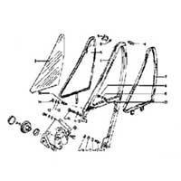 Vent Glass Components for 1968 Buick Skylark