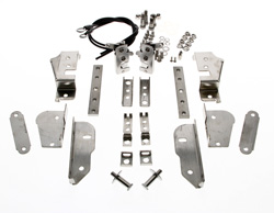 Hidden Tailgate Latch Kit (Complete Stainless) - 47-87 Chevy GMC Stepside Pickup; 48-87 Ford Flareside Pickup