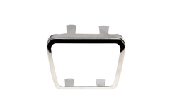 Parking Brake Pedal Pad Trim - Stainless- Large